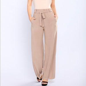 Pants - NEVER WORN Wide leg / flowy / silky pants